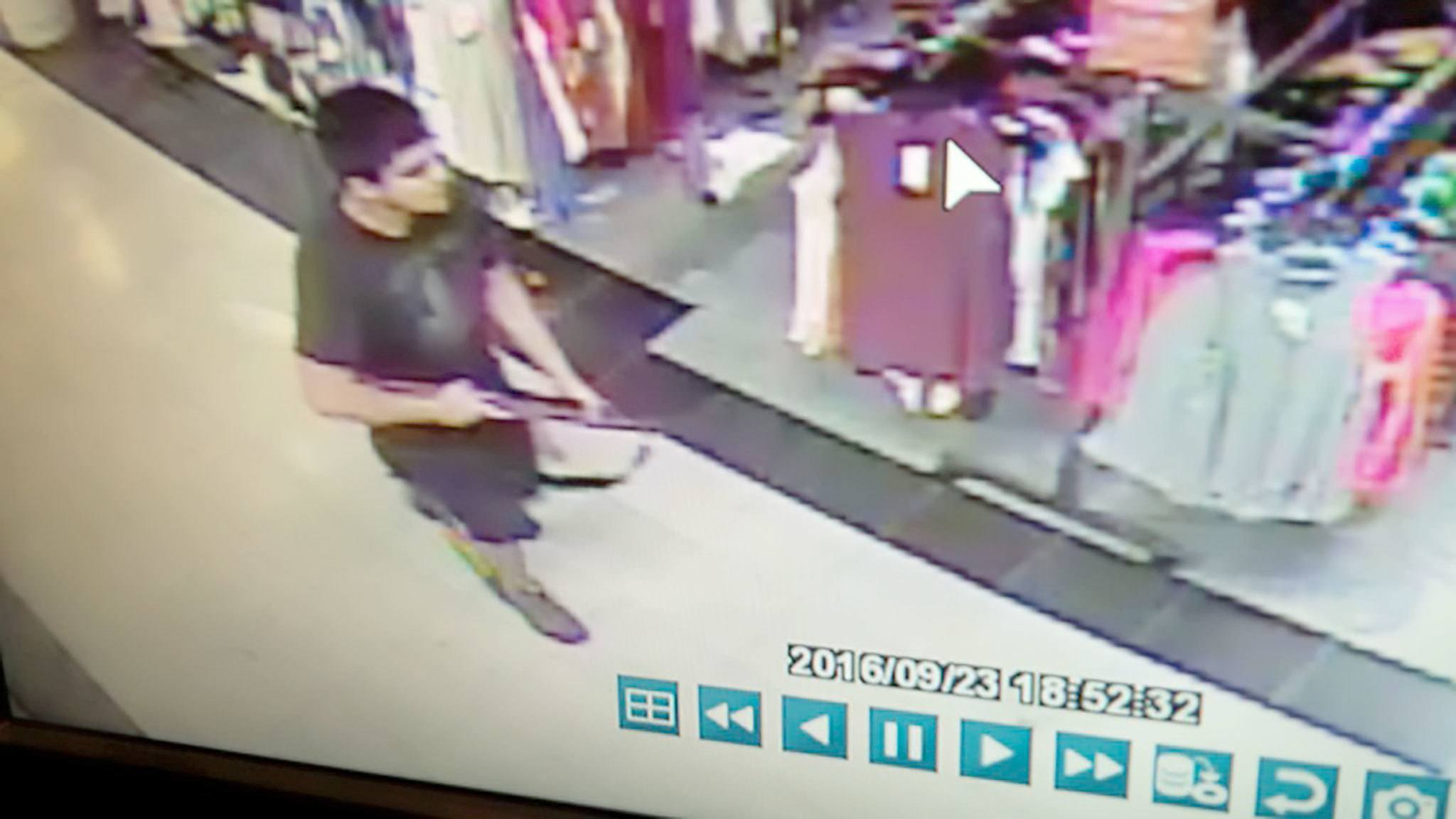 This image provided by police show a man entering the Macy's store at Cascade Mall in Burlington, where he fatally shot five people Friday night. (Skagit Multiple Agency Response Team)