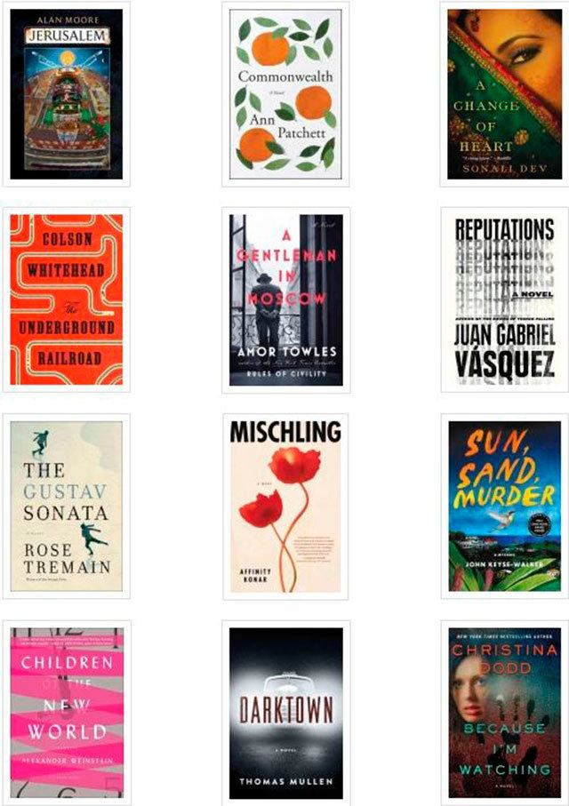 Some of the titles coming out in September staff at Everett Public Library look forward to and recommend. (Everett Public Library image)