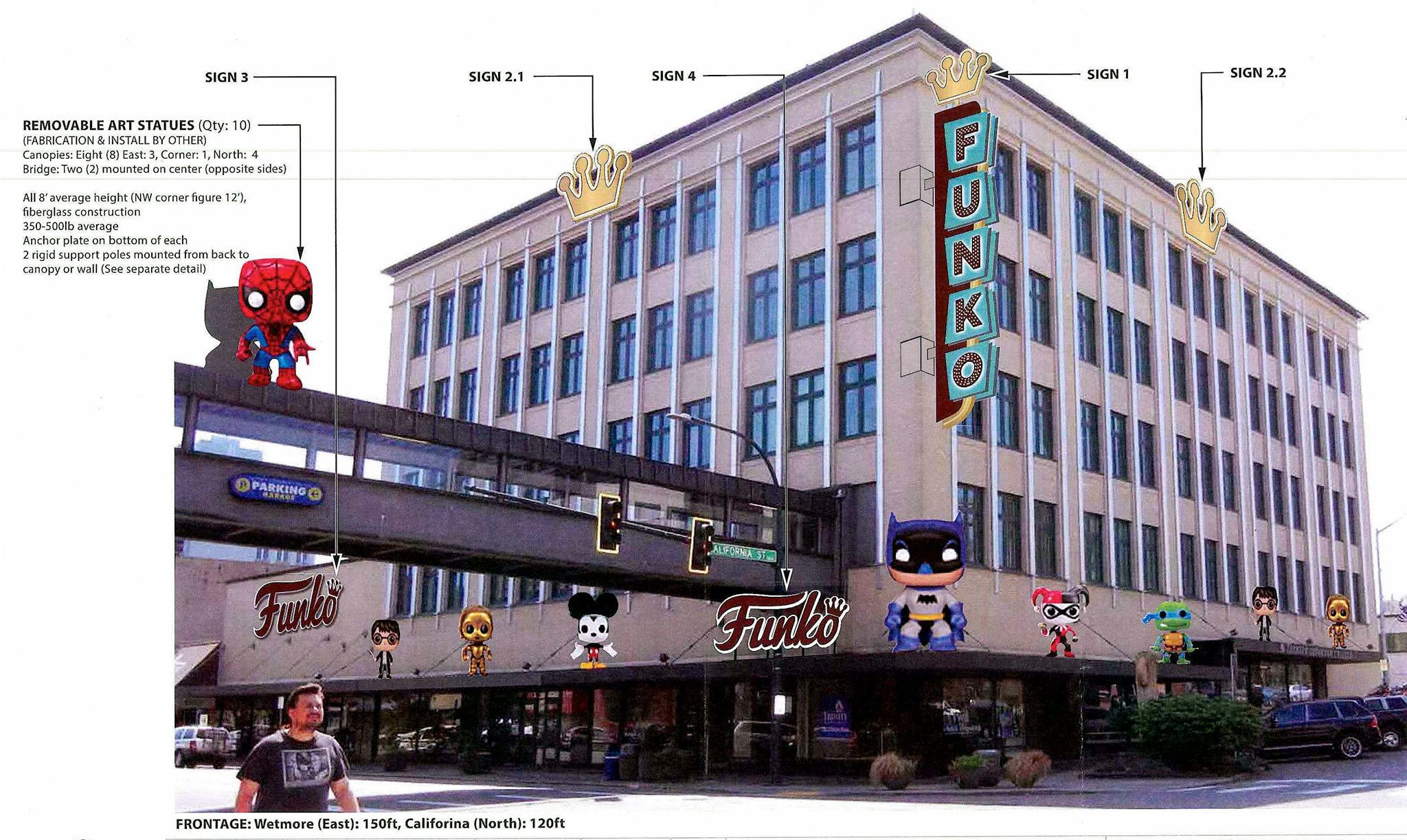Funko, a maker of popular culture toys and merchandise, is planning to move into downtown Everett.