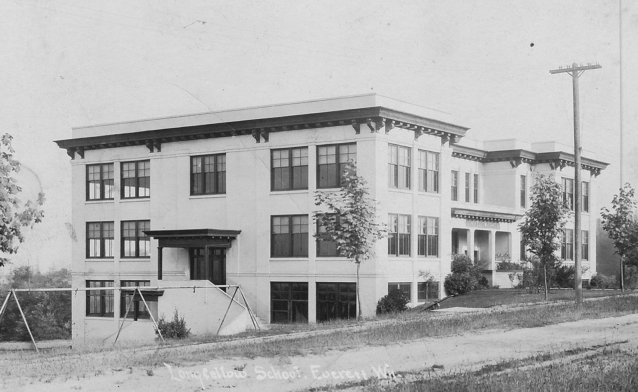 The historic Longfellow School at 3715 Oakes Ave was built in 1911.