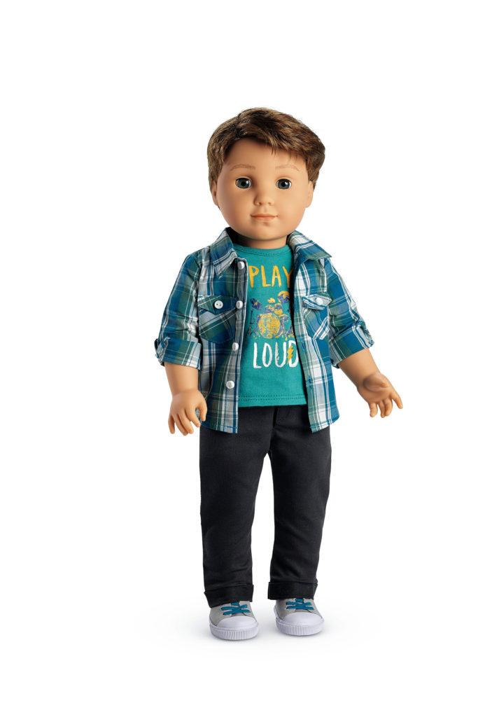 A doll named Logan Everett is the first-ever boy by American Girl dolls in its 30-year history. The 18-inch doll hit the market last Thursday. (American Girl)