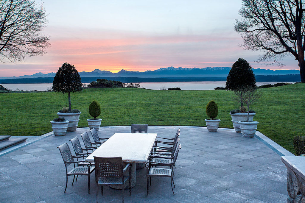 The most expensive home sold in Snohomish County sits along the Puget Sound in Woodway with spectacular views of the water and Olympic Mountains. (Contributed photo)