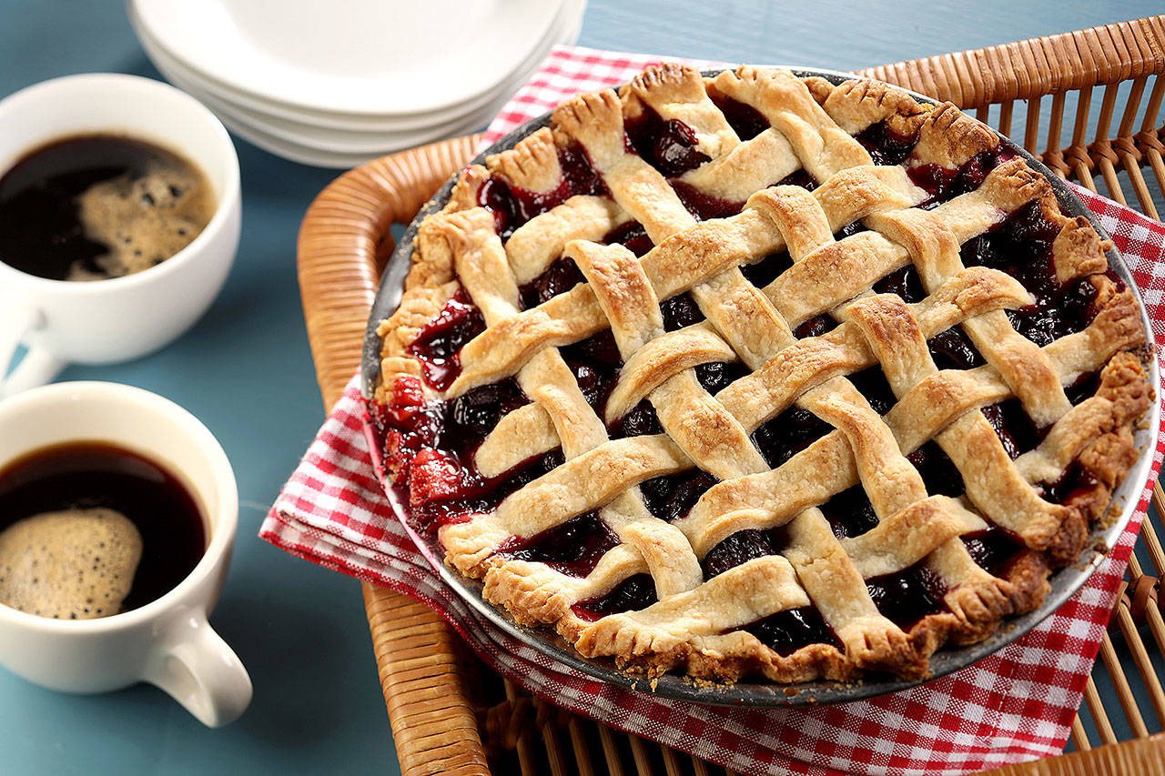 Agent Cooper would favor this pie, made with sweet cherries and a touch of almond extract. (Michael Tercha / Chicago Tribune)