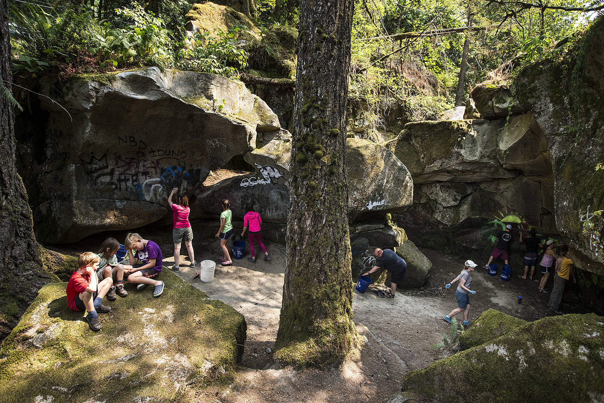 Volunteers fall in to spruce up Eagle Falls near Index