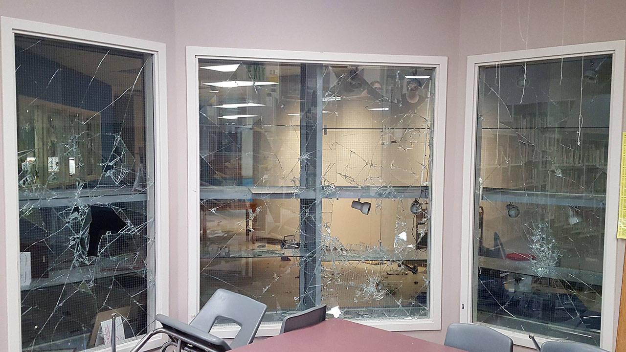 Vandals broke into Darrington schools over the weekend. They caused hundreds of thousands of dollars in damage at the elementary school, and lesser damage at the high school. (Courtesy of Darrington School District)