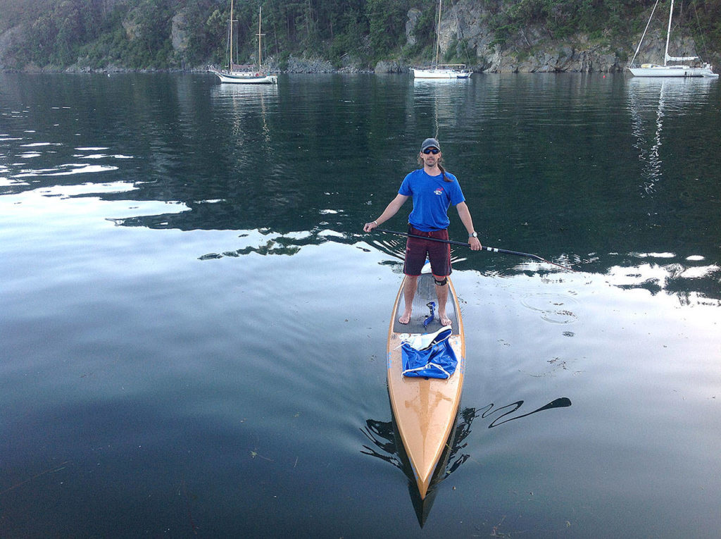 Kruger paddled an average of 51 miles per day while racing in this year's Race to Alaska. (Photo courtesy of Karl Kruger)