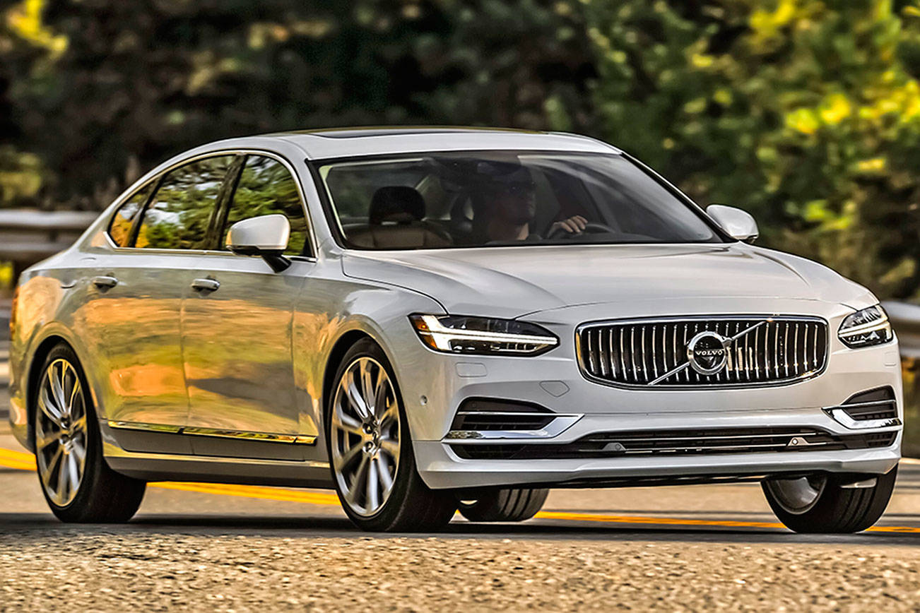 Volvo's S90 sedan is stretched to near limo length for 2018