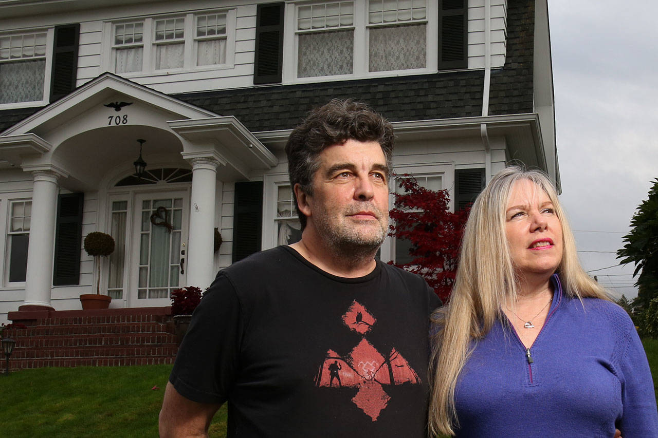 "Tim and Mary Reber bought the Everett house featured in the ""Twin Peaks"" series in 2014, and have hosted fans from 18 countries seeking a tour. The couple landed a spot in ""Twin Peaks: The Return,"" a new 18-episode series on Showtime. (Kevin Clark / The Herald)"