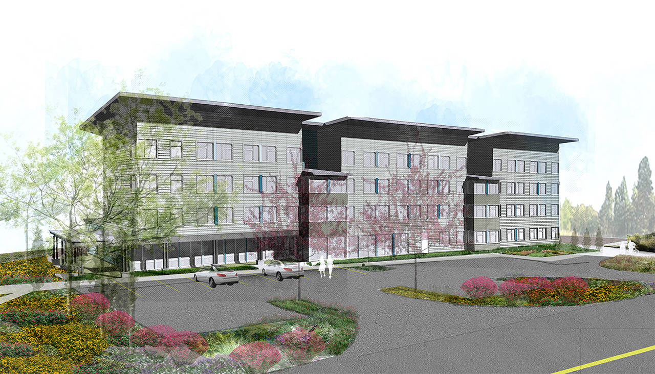 An artist's rendering shows plans for the Safe Streets housing project designated for Berkshire Drive. (Catholic Housing Services)