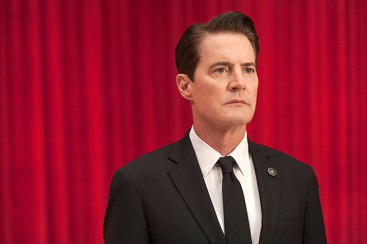 "Kyle MacLachlan stars as Dale in the Showtime series ""Twin Peaks."" (Suzanne Tenner/Showtime)"