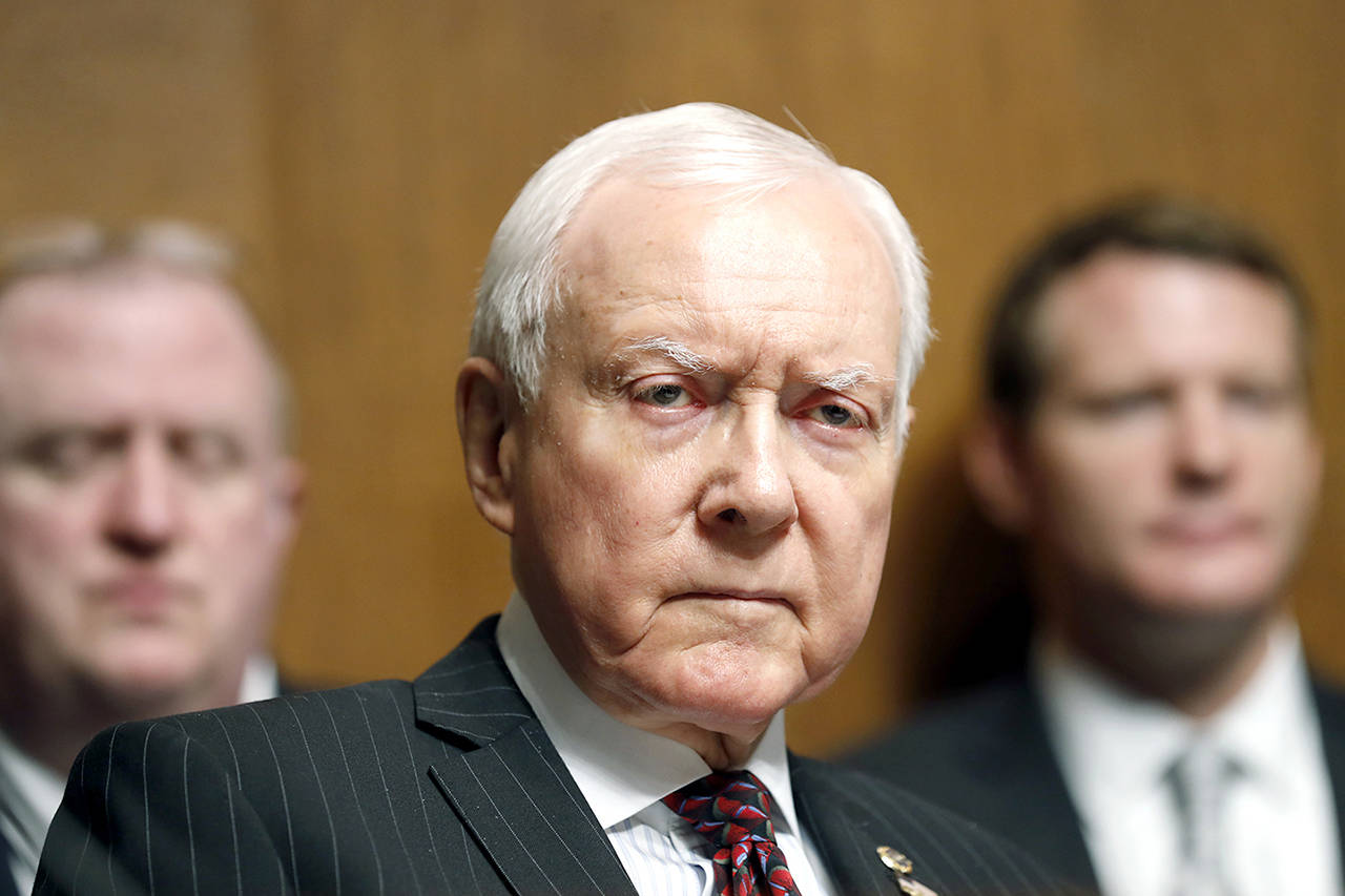 In this Sept. 20 photo, Sen. Orrin Hatch, R-Utah, listens during a Senate Judiciary Committee hearing on Capitol Hill in Washington. Hatch says he is retiring after four decades in Senate (AP Photo/Alex Brandon, File)