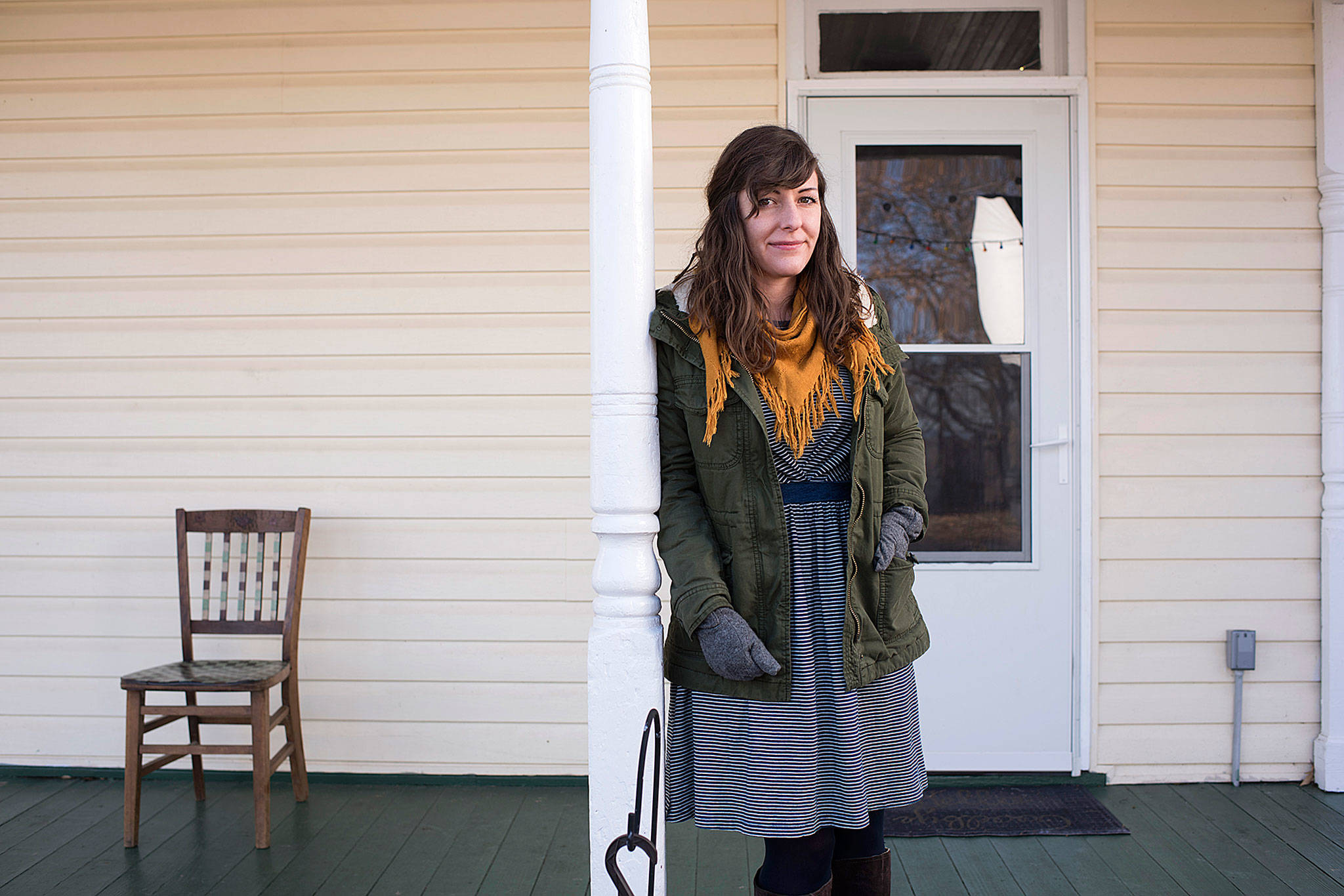 When Sarah Pool finished her master's degree three years ago, she owed $60,000. She's paid every month since, and now owes $69,000. (Washington Post/Marvin Joseph)