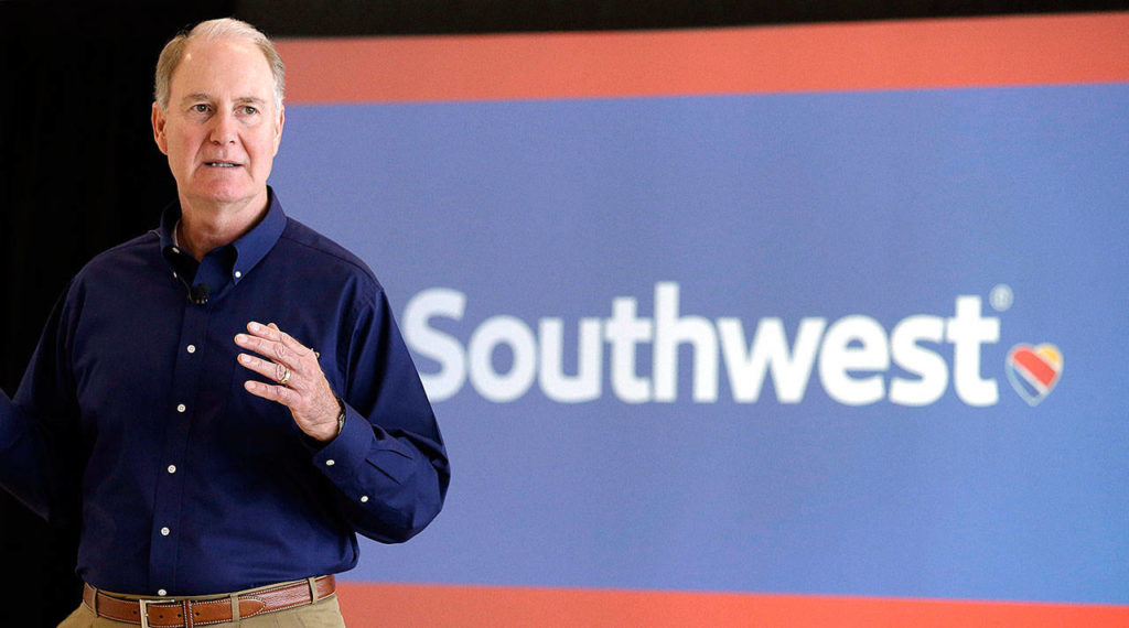 Southwest Airlines CEO Gary Kelly. (AP Photo/Pat Sullivan, File)