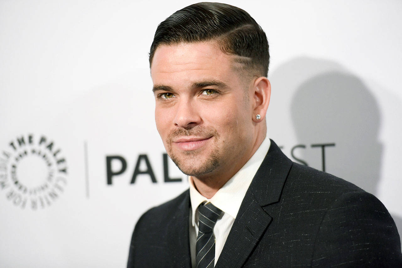 """In this March 2015 photo, Mark Salling arrives at the 32nd annual Paleyfest """"Glee"""" in Los Angeles. (Photo by Richard Shotwell/Invision/AP, File)"""