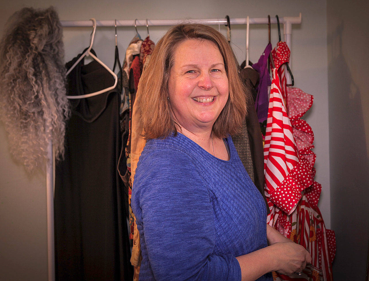 """Melinda Mack is the director of Never Too Late Players' """"Aladdin,"""" which runs through Sunday at the Outcast Black Box Theater in Langley. The theater group is for actors 50 and older."""