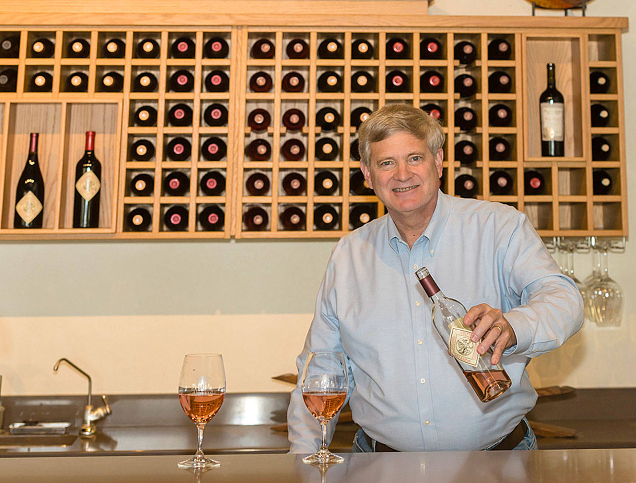 Rob Griffin, owner and head winemaker of Barnard Griffin in Richland, Washington, makes what is arguably the best rose in America.(Photo by Richard Duval Images)