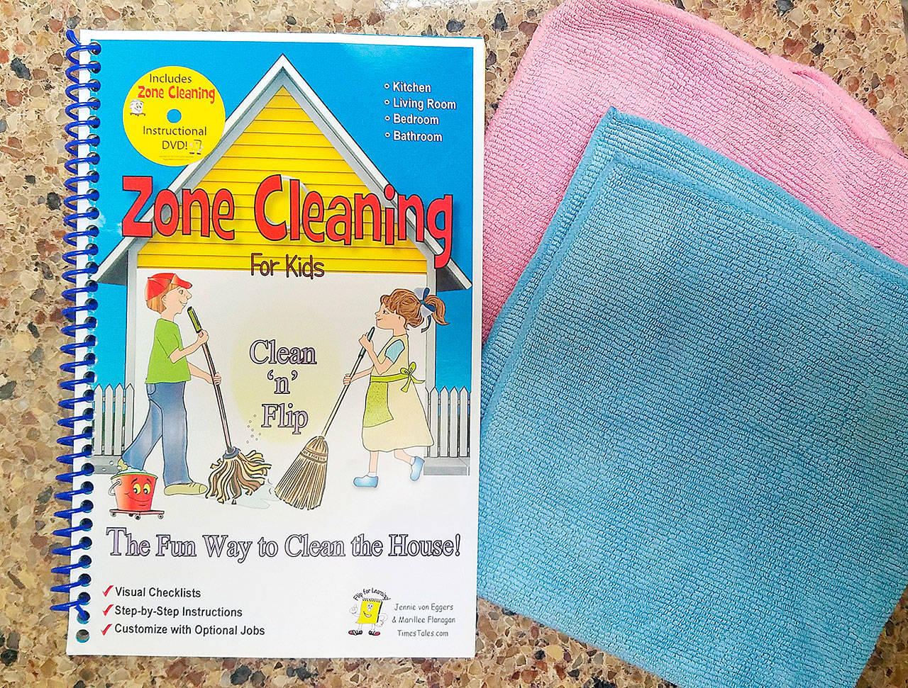 "The idea of ""zone cleaning"" is to do one step at a time, which means that chores aren't overwhelming. (Photo by Jennifer Bardsley)"