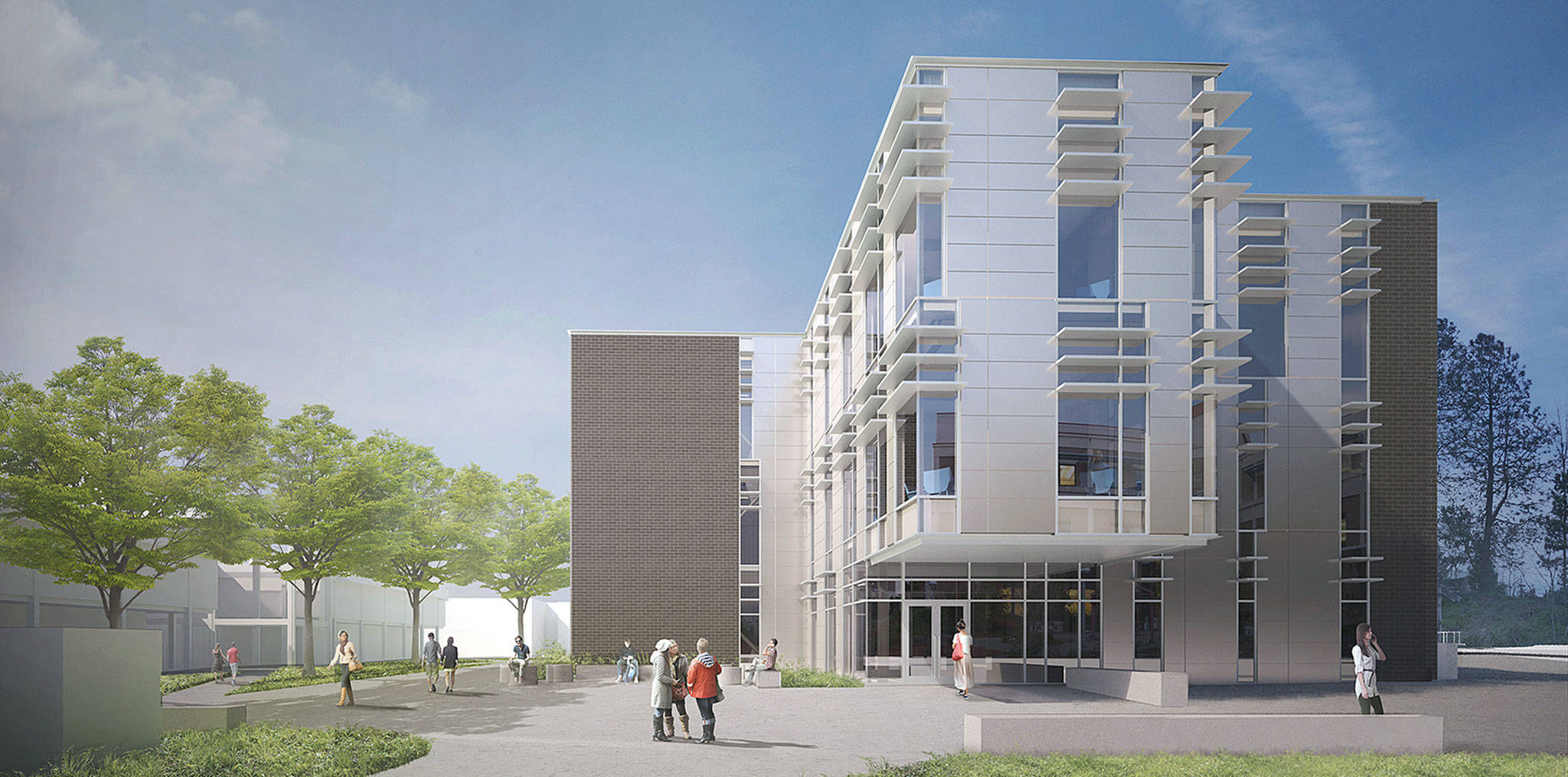 Edmonds Community College                                 An artist's rendering of the proposed new science, engineering and technology building at Edmonds Community College.