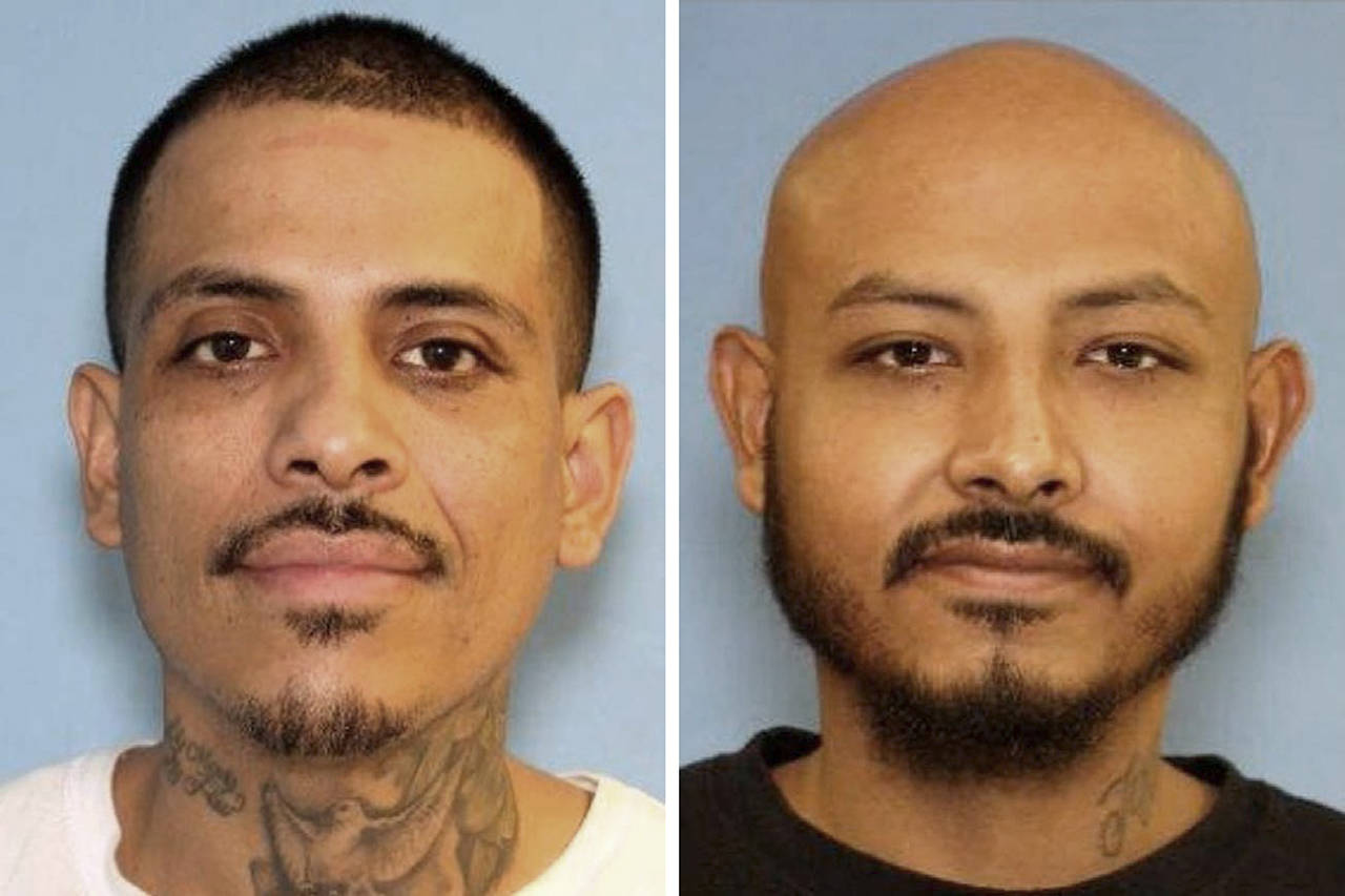 Jorge Martinez (left) and Jose Nava are suspects in the murder of a man in Marysville.