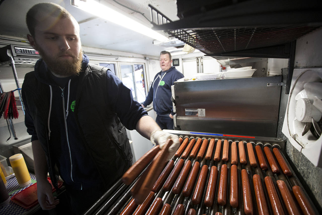 The Dixons can fire 51 dogs at a time. (Ian Terry / The Herald)