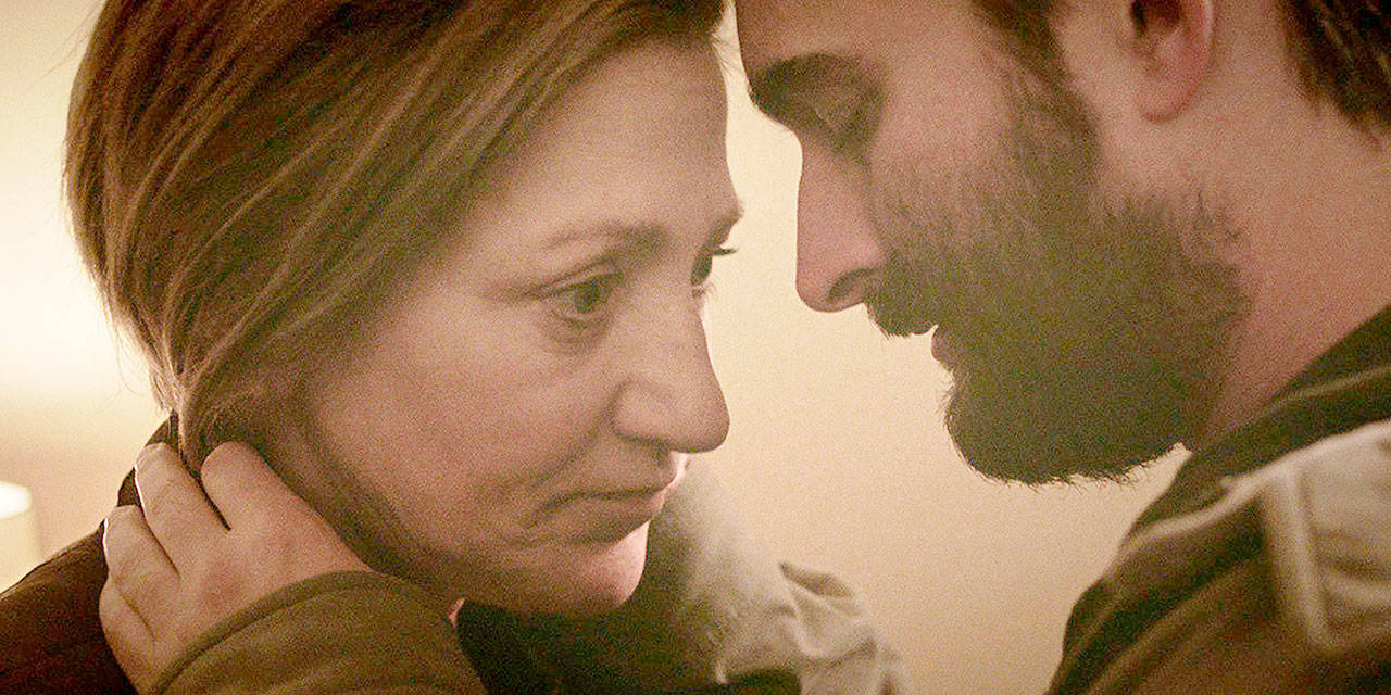 """Carol (Edie Falco) and Chris (Jay Duplass) in Lynn Shelton's """"Outside In,"""" which was shot in Snohomish County. (TIFF)"""