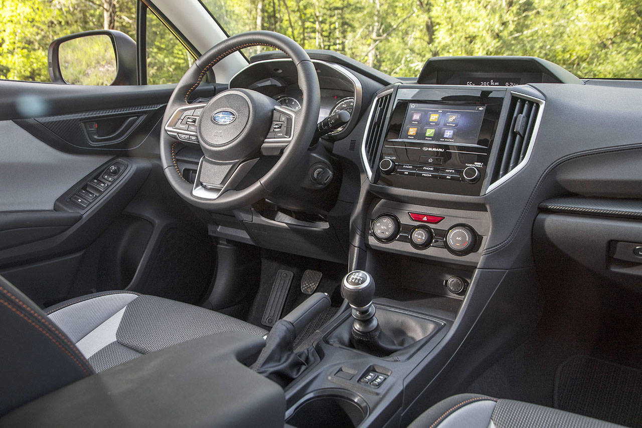 Subaru's Starlink multimedia system with Android Auto and Apple CarPlay is a new feature of the Crosstrek compact SUV for 2018. (Manufacturer photo)