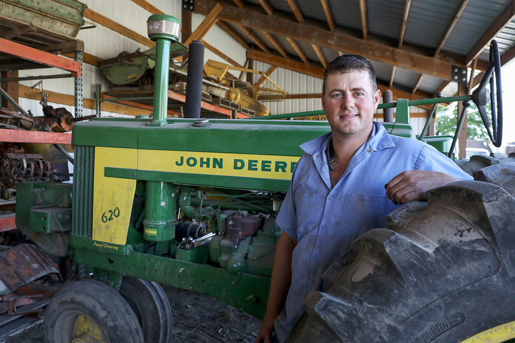 Andrew Albert, a third generation Arlington farmer, was able to afford to expand his operation by purchasing land using a county program that works to preserve farmland and contain sprawl. (Lizz Giordano / The Herald)