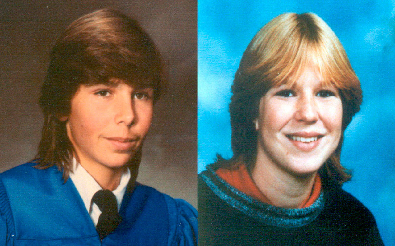 Jay Cook (left) and Tanya Van Cuylenborg of Vancouver Island were found slain in Washington in 1987.