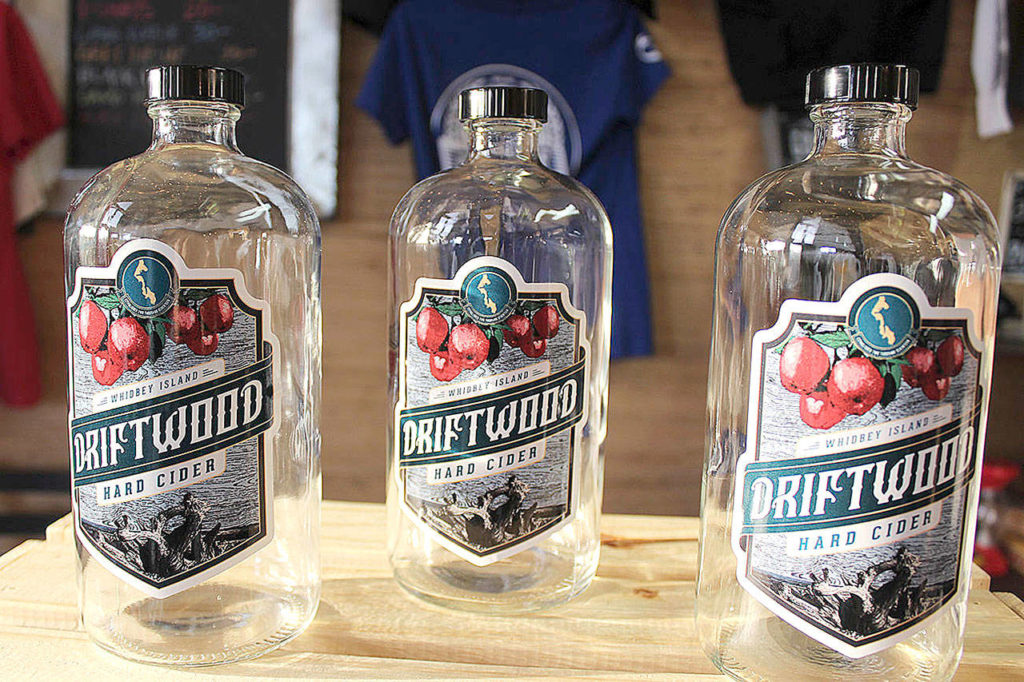 Driftwood Hard Cider is South Whidbey grown, harvested, aged and distributed in kegs to a few local bars. In the future it might be bottled. (Patricia Guthrie/South Whidbey Record)