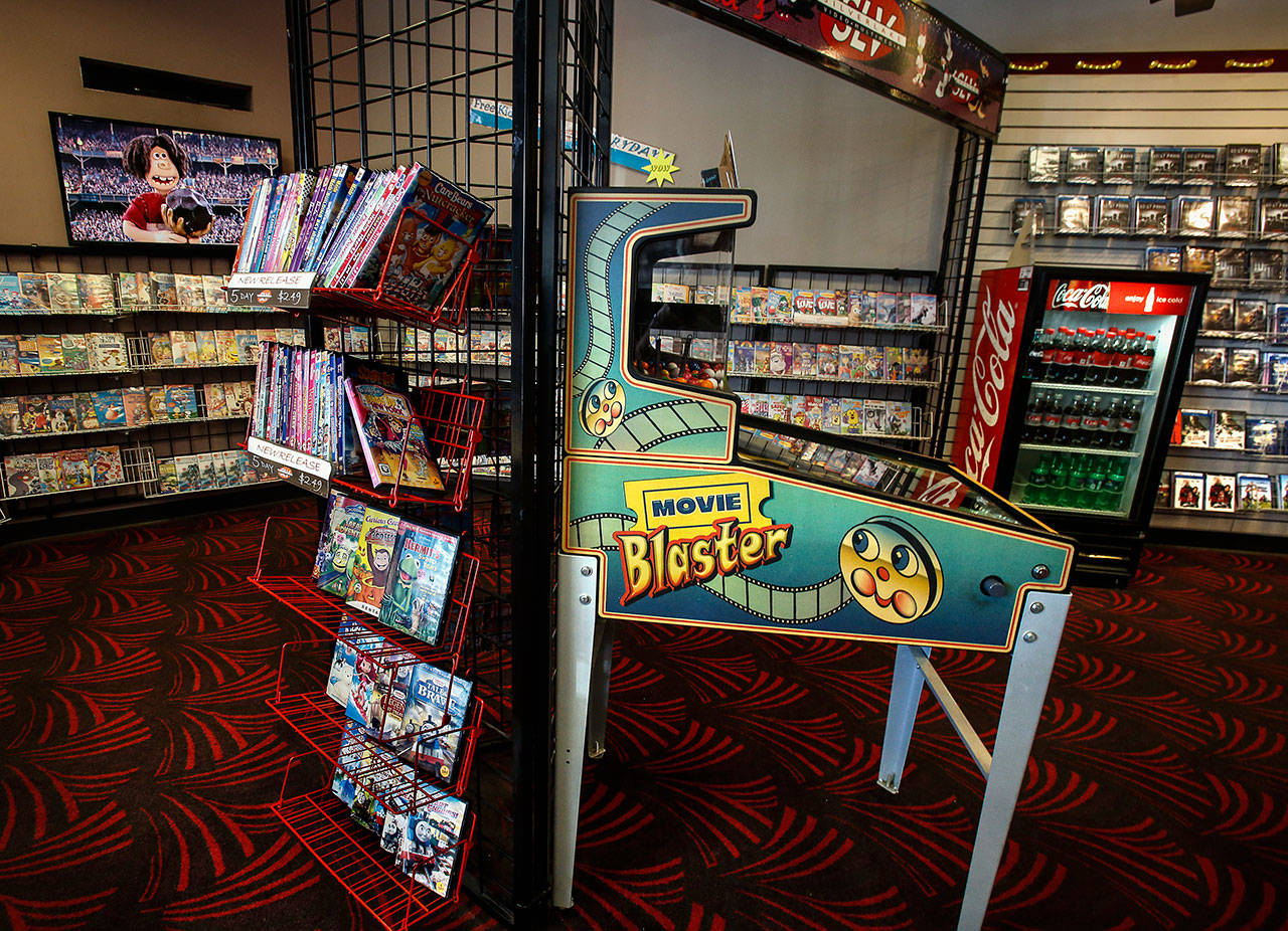There's a childrens area at Silver Lake Video. (Dan Bates / The Herald)