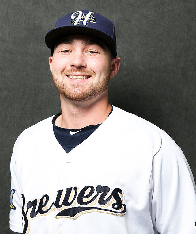 Edmonds-Woodway grad Tate Budnick plays for the Helena Brewers, a minor league affiliate of the Milwaukee Brewers. (Helena Brewers)