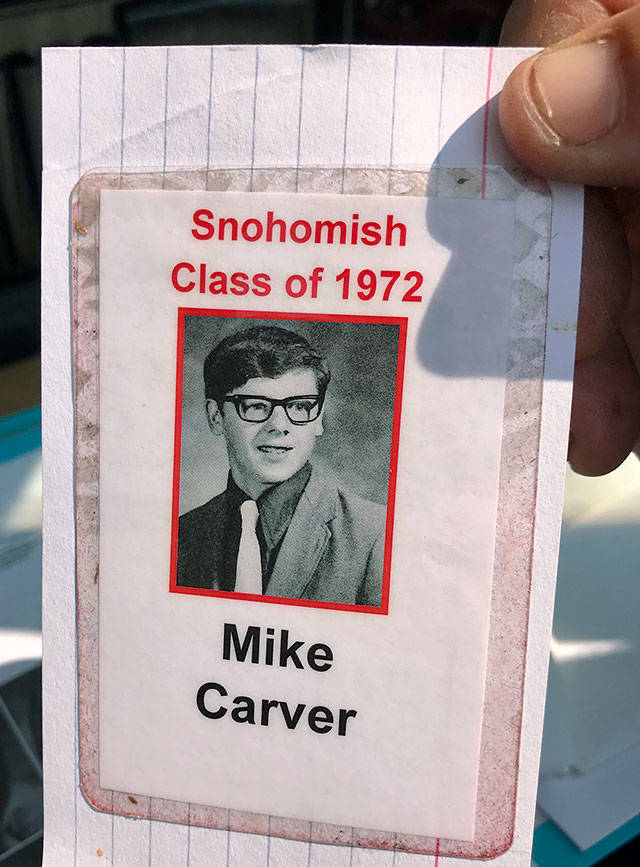 Mike Carver as he appeared in the Snohomish Class of 1972 yearbook (Andrea Brown / The Herald)
