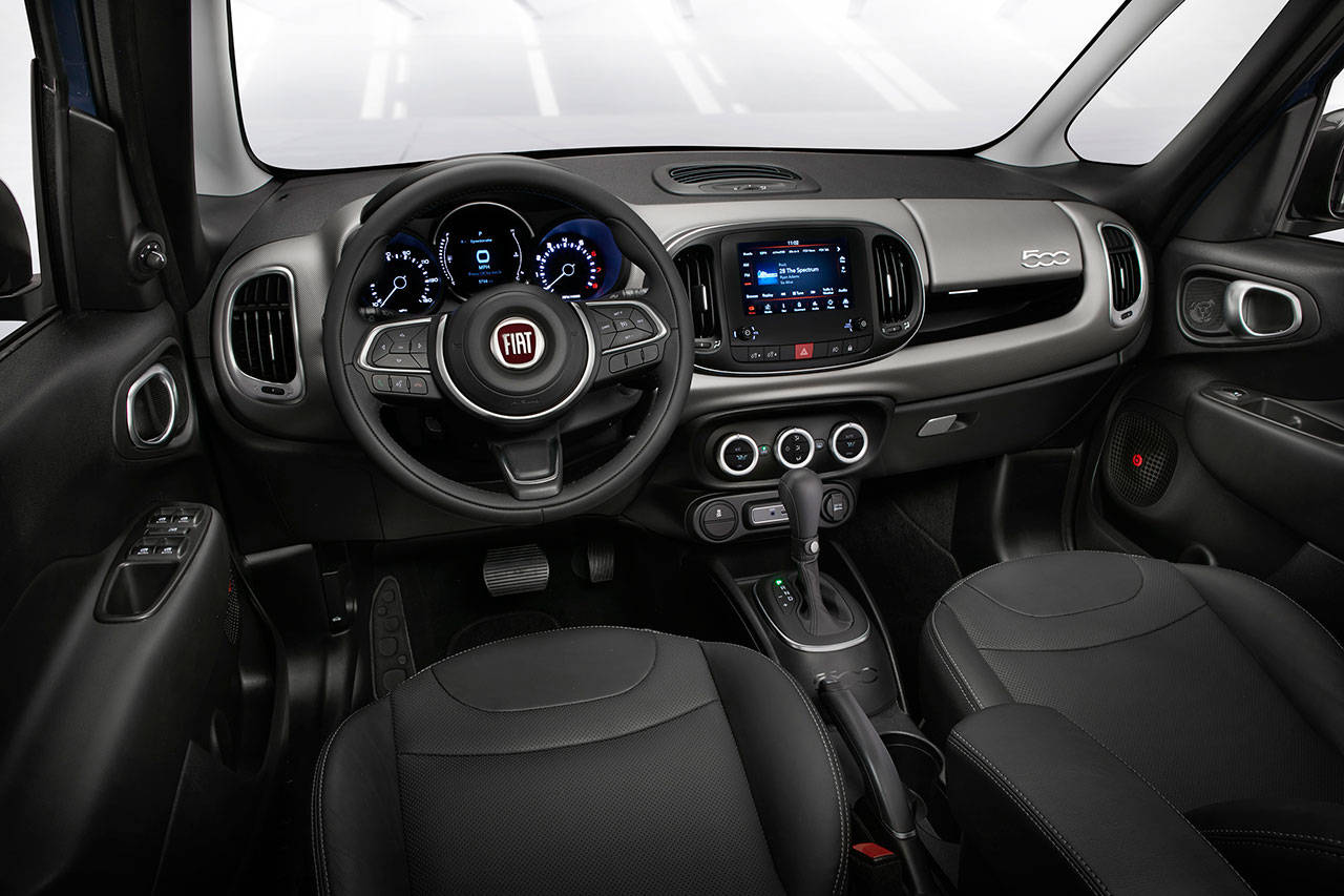 Updates on the Fiat 500L for 2018 include FCA's award-winning Uconnect infotainment system as a standard feature on all models. The system has Android Auto and Apple CarPlay capability. (Manufacturer photo)