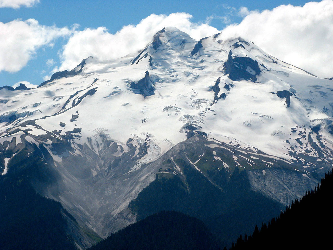 Glacier Peak is shown from the east at Buck Creek Pass in July 2007. (Rob Ollikainen / Wenatchee World file photo)
