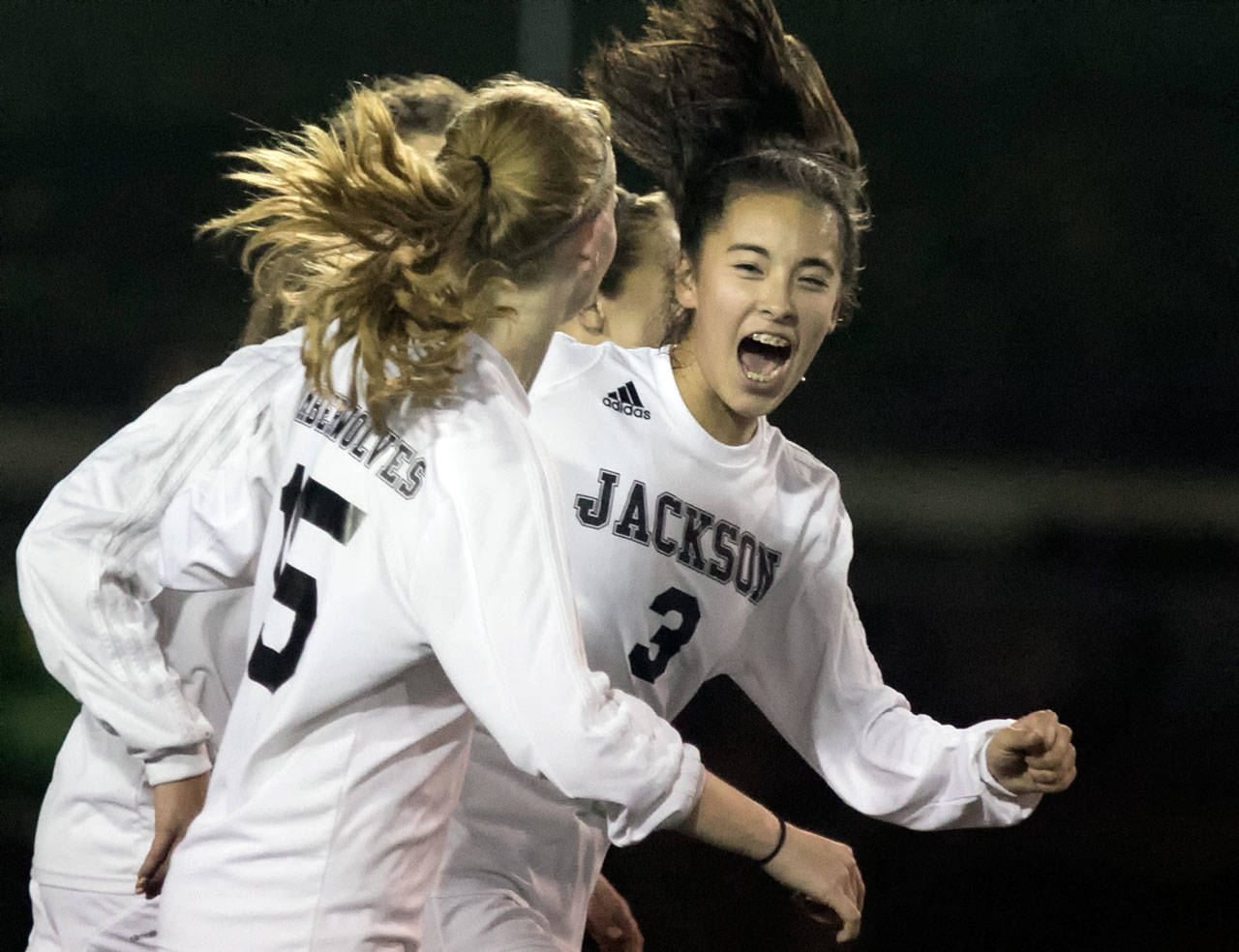 Katie Cheng (3) is one of the top returning players for a Jackson team that is looking for its sixth straight Wesco 4A championship. (Kevin Clark / Herald file)