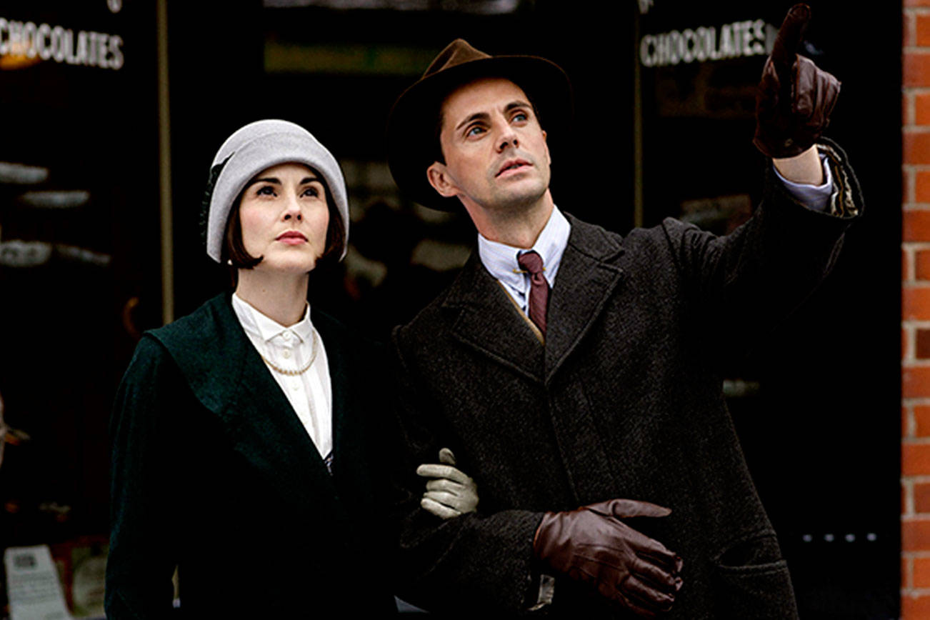 "Michelle Dockery as Lady Mary and Matthew Goode as Henry Talbot in ""Downton Abbey."" (Nick Briggs/Carnival Film & Television/Masterpiece/TNS)"