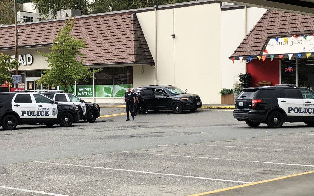 Bothell police responded to a suspicious circumstance report that turned into a suspect barricading himself in a bathroom. (Bothell Police Department)