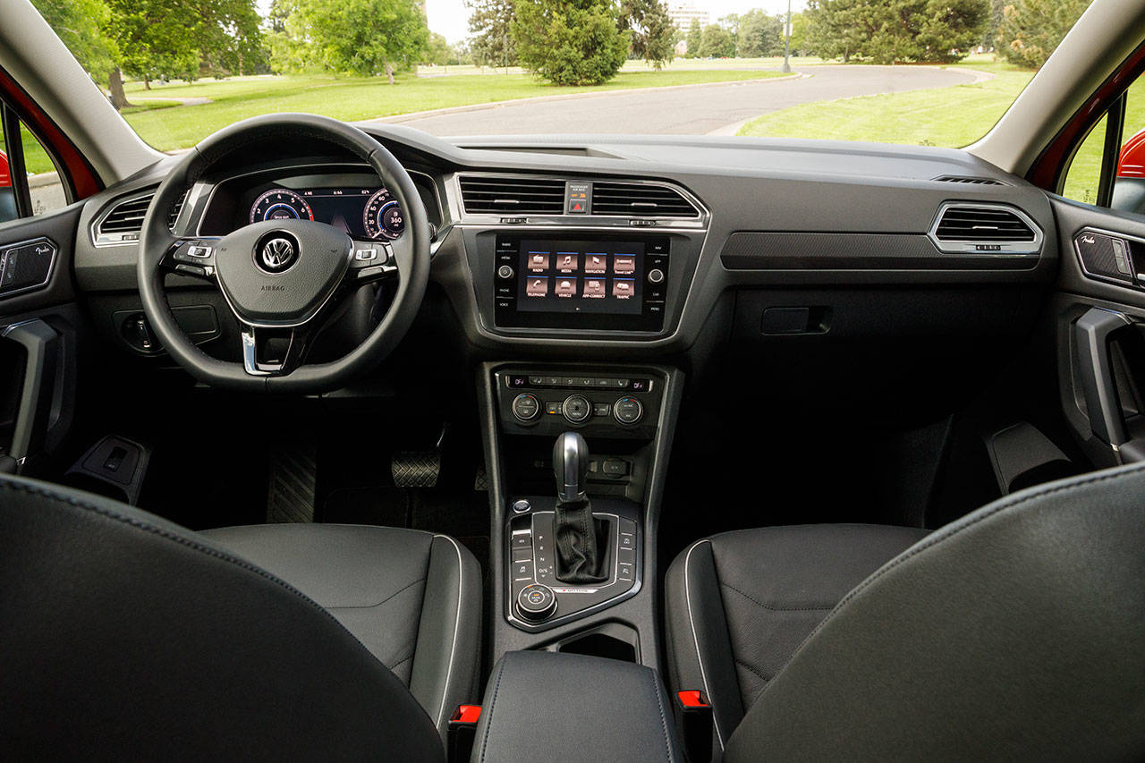 The all-new 2018 Tiguan interior is typical Volkswagen: simple but handsome design with high grade materials and build quality. (Manufacturer photo)