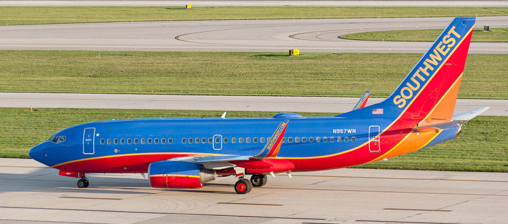 A Southwest Airlines Boeing 737-700. (Sixflashphoto via Wikimedia Commons)