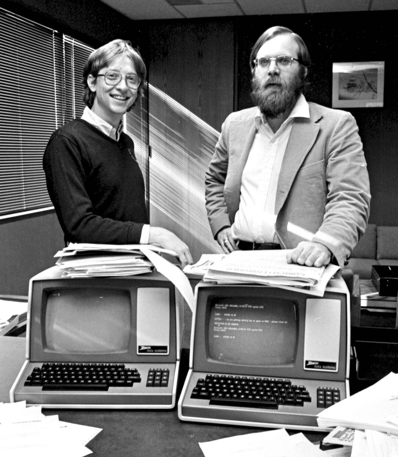 Bill Gates and Paul Allen relocated Microsoft to Bellevue, Washington, from Albuquerque in 1979. Allen died of non-Hodgkin lymphoma at age 65 on Monday. (Barry Wong/Seattle Times/TNS)