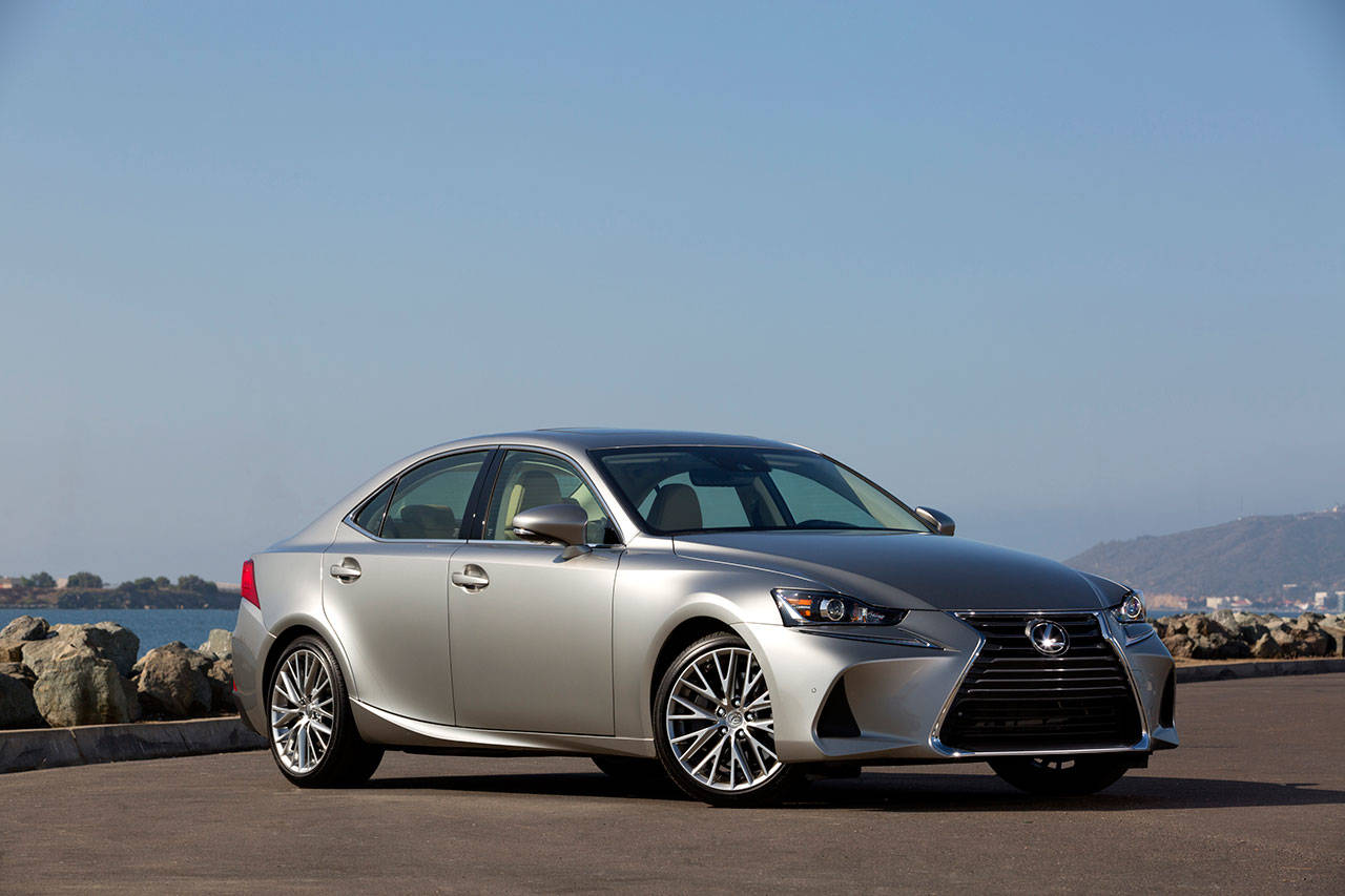 The 2018 Lexus 300 IS sports sedan is generously equipped with standard features. Many optional items are also available. (Manufacturer photo)