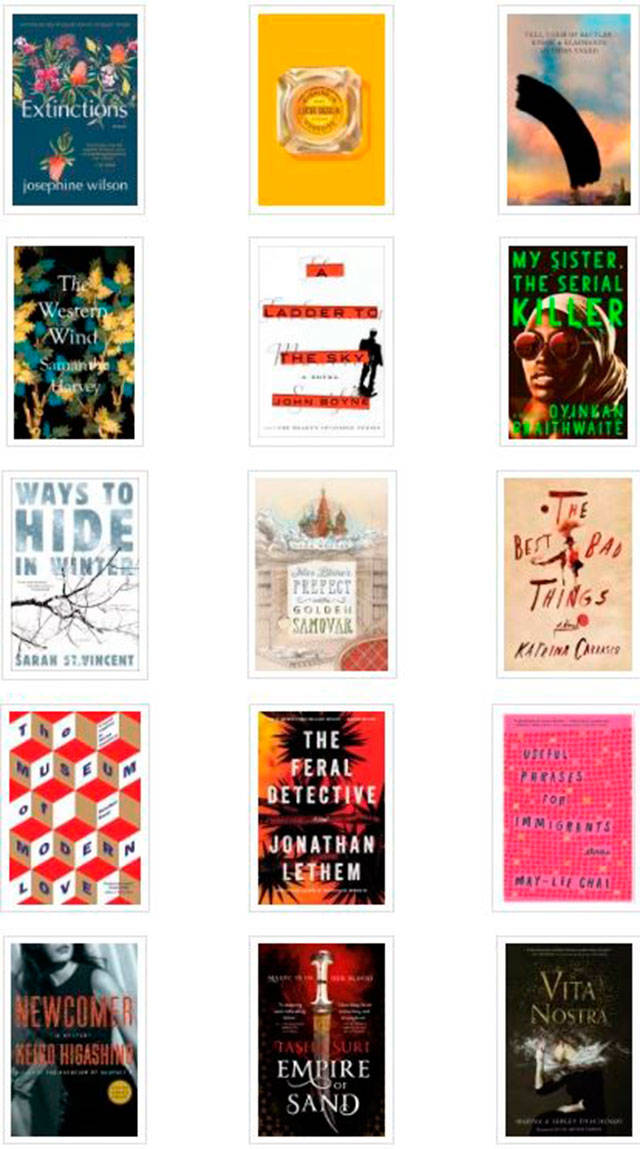 Some of the top titles to check out from the Everett Public Library this month. (Everett Public Library image)
