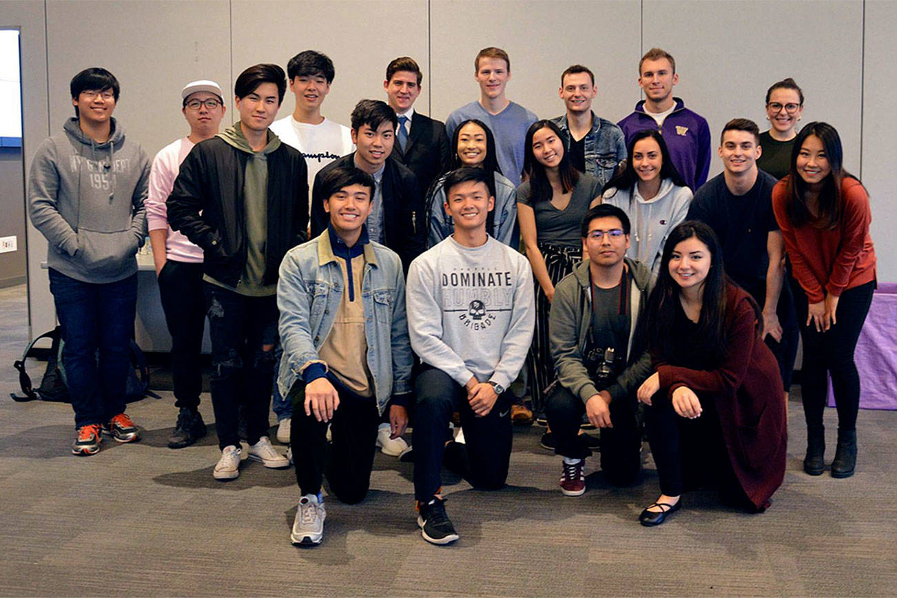 UW Bothell students spread warmth for scarf project