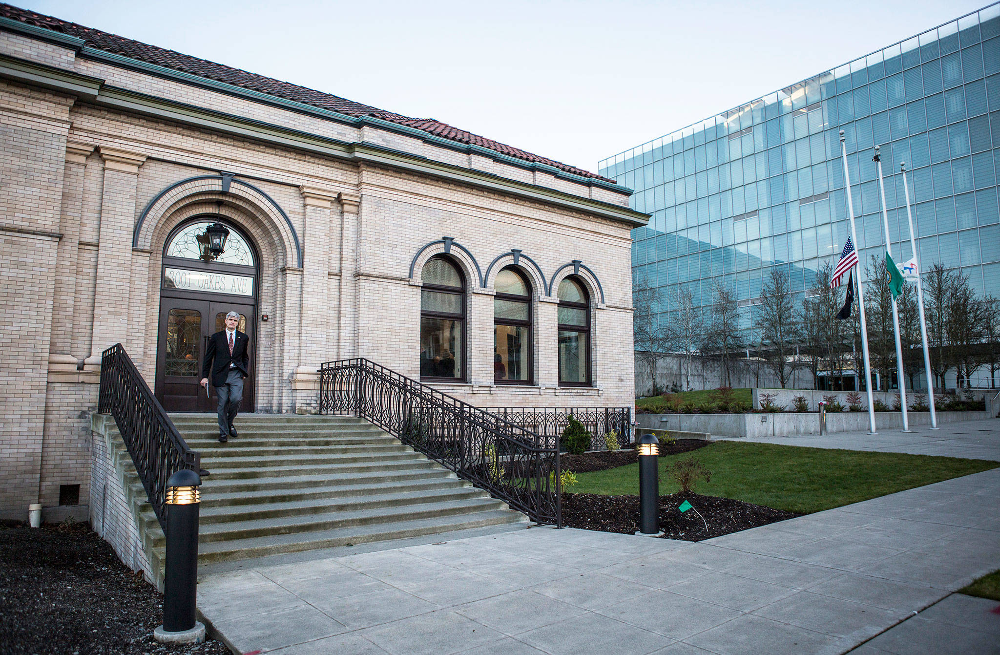 The newly renovated Carnegie Building in Everett. (Olivia Vanni / The Herald)