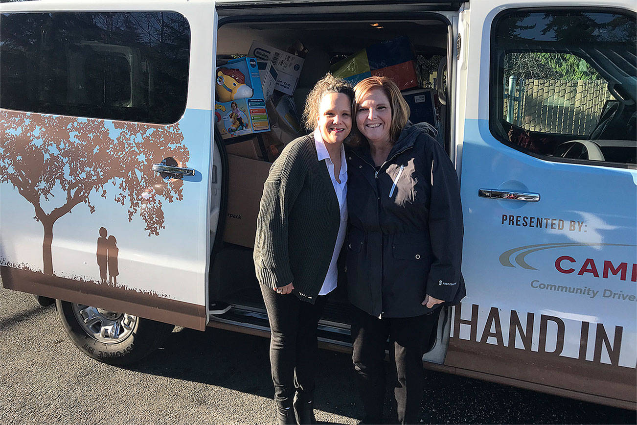 Vans of donations help make foster family Christmas special