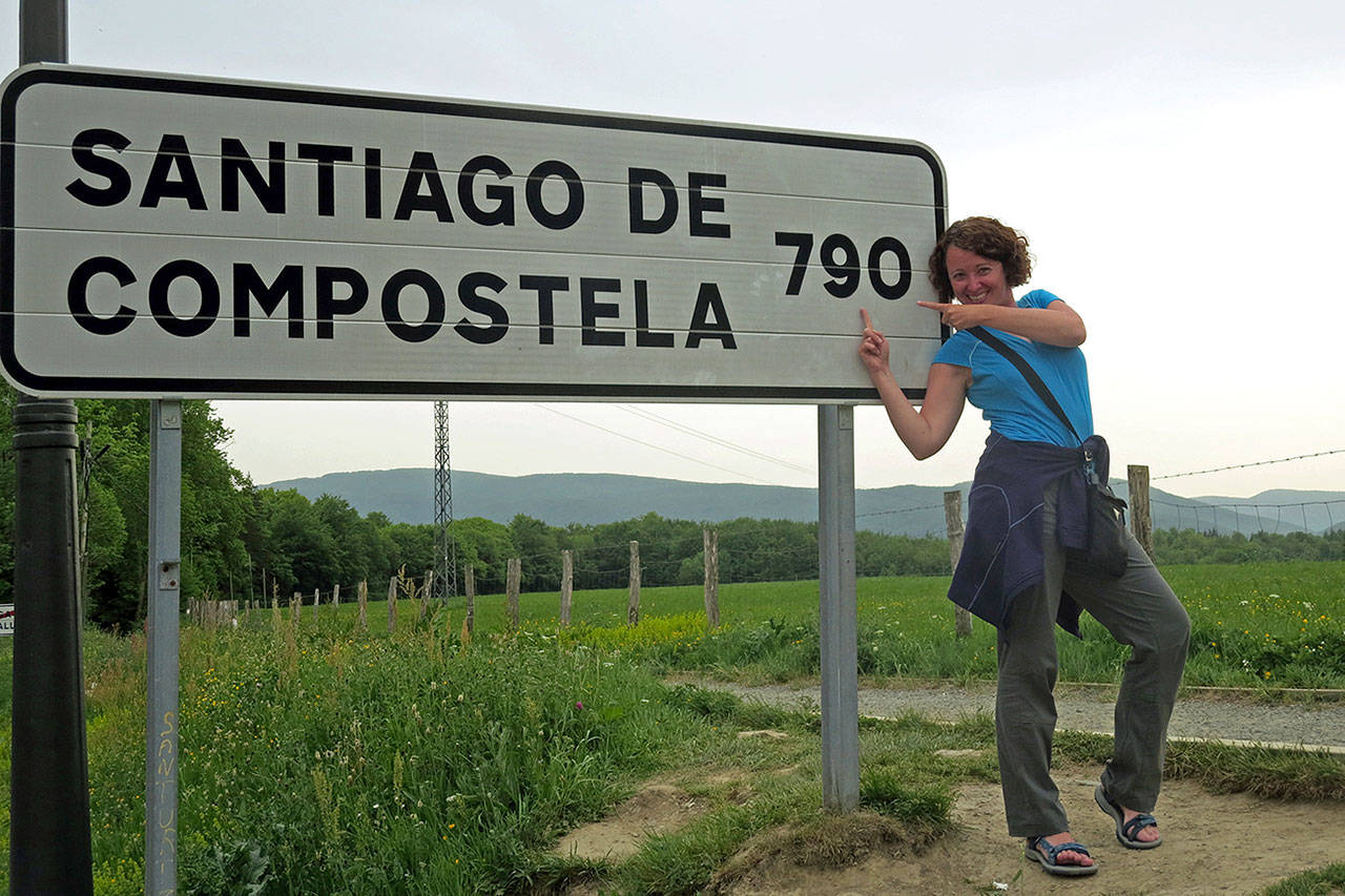 The Camino de Santiago trail ends at a cathedral in Santiago de Compostela in Spain. The Jusinos walked 1,000 miles to reach it. (Beth Jusino)