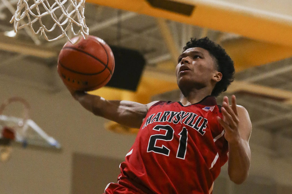 University of Washington-bound RaeQuan has led first-place Marysville Pilchuck to 11 straight wins and a perfect record in Wesco 3A play. (Kevin Clark / The Herald)