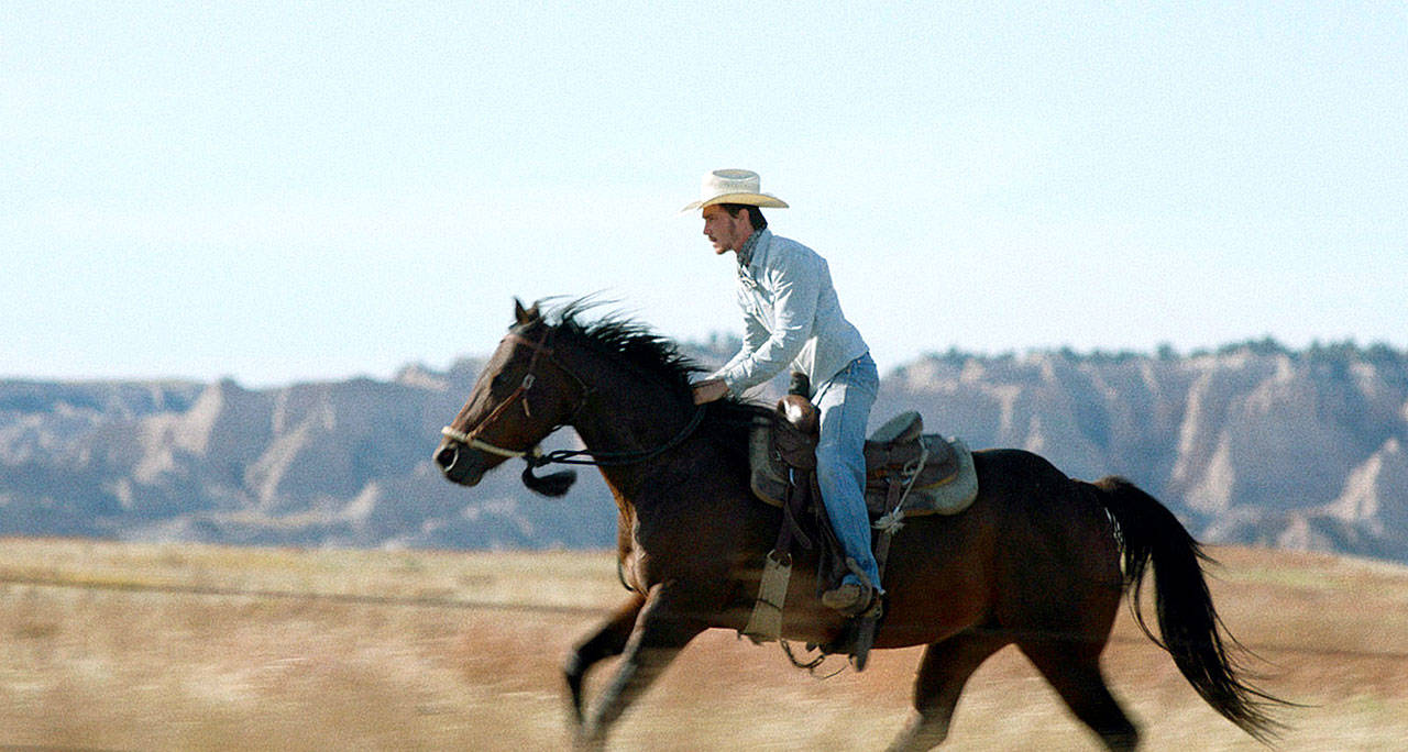 "Brady Jandreau is tall in the saddle in ""The Rider,"" the best movie of 2018 no matter what the Academy says. (Sony Pictures Classics)"