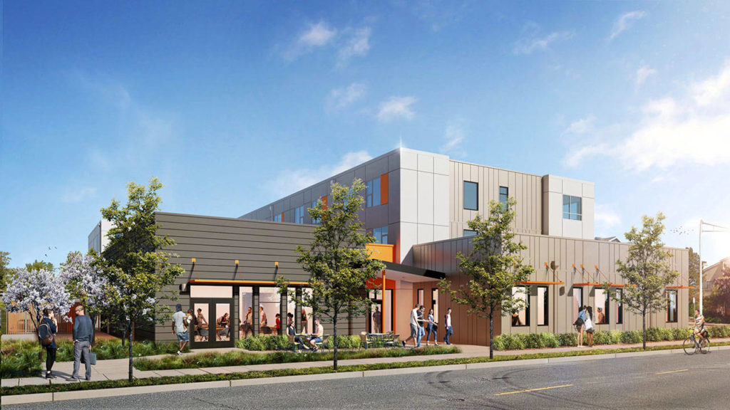 Cocoon House's new building on Colby Avenue and 36th Street in Everett is set to open in April. (Cocoon House)