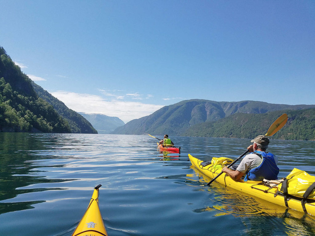 Dave Ellingson kayaked two of Norway's fjords in 2018 with three of his friends, who also are expedition kayakers. (Dave Ellingson)